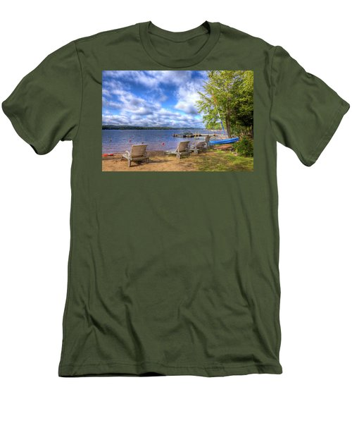 Men's T-Shirt (Athletic Fit) featuring the photograph The Palmer Point Beach by David Patterson