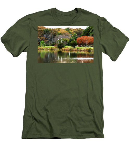 The Park Men's T-Shirt (Slim Fit) by Judy Wolinsky