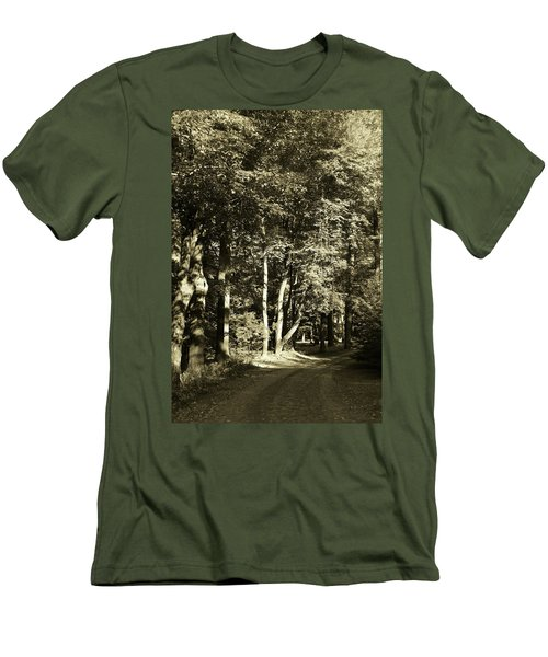 Men's T-Shirt (Athletic Fit) featuring the photograph The Path Less Traveled by John Schneider