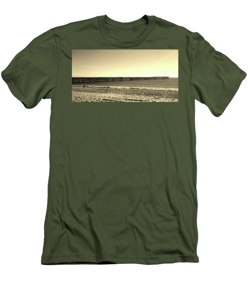 The Pier Men's T-Shirt (Slim Fit) by Mary Ellen Frazee