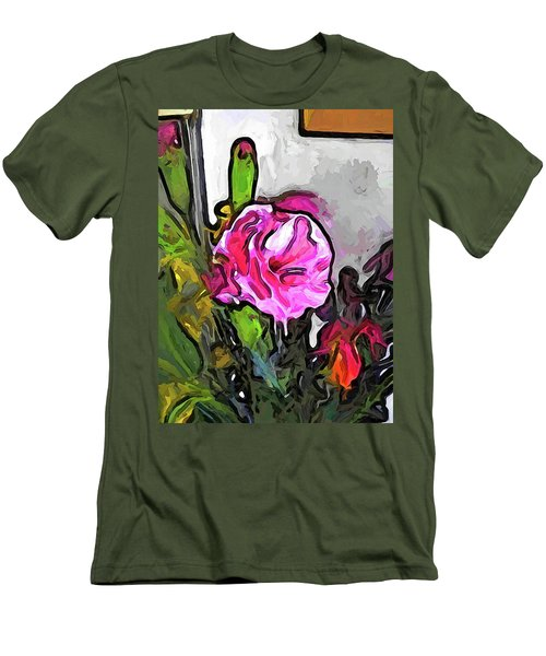 The Pink Flower With The Burgundy Buds Men's T-Shirt (Athletic Fit)