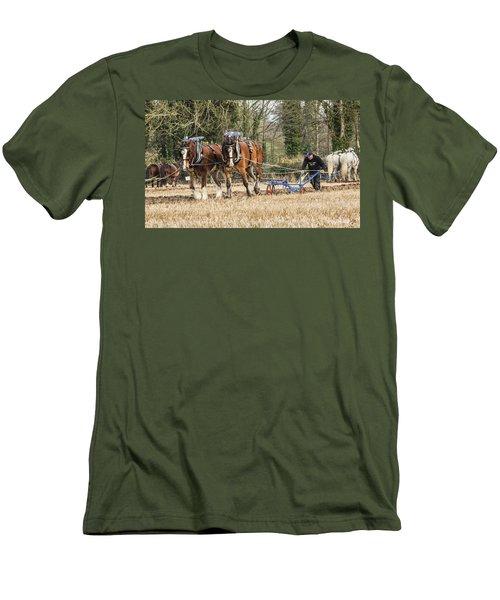 The Ploughman Men's T-Shirt (Slim Fit) by Roy McPeak