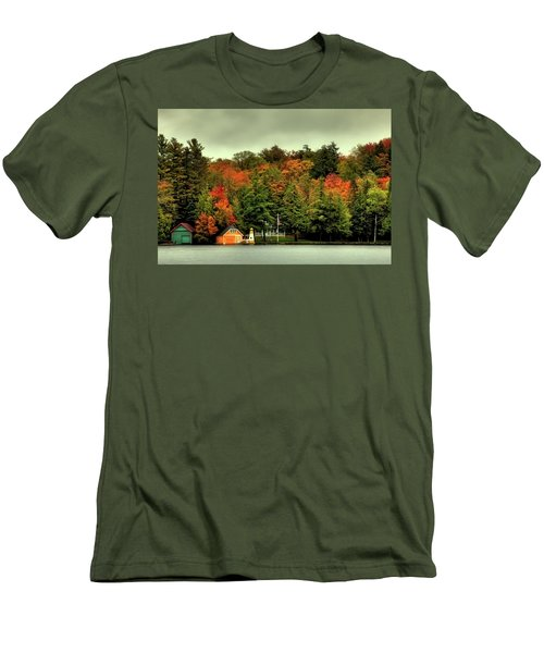 The Pond In Old Forge Men's T-Shirt (Slim Fit) by David Patterson