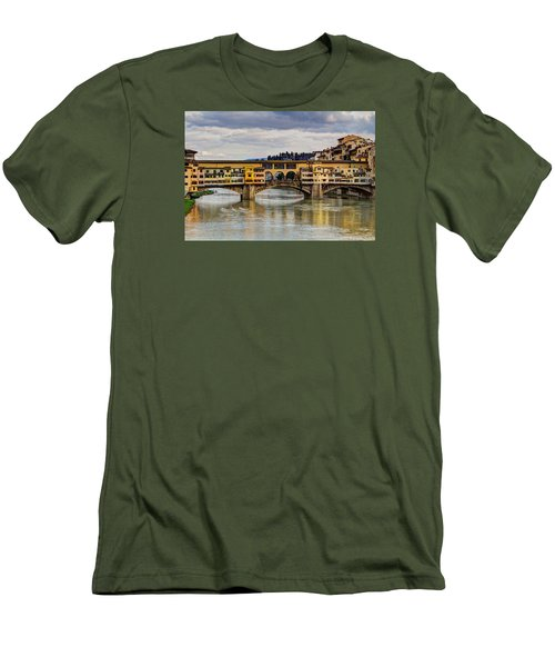 Men's T-Shirt (Slim Fit) featuring the photograph The Ponte Vecchio by Wade Brooks