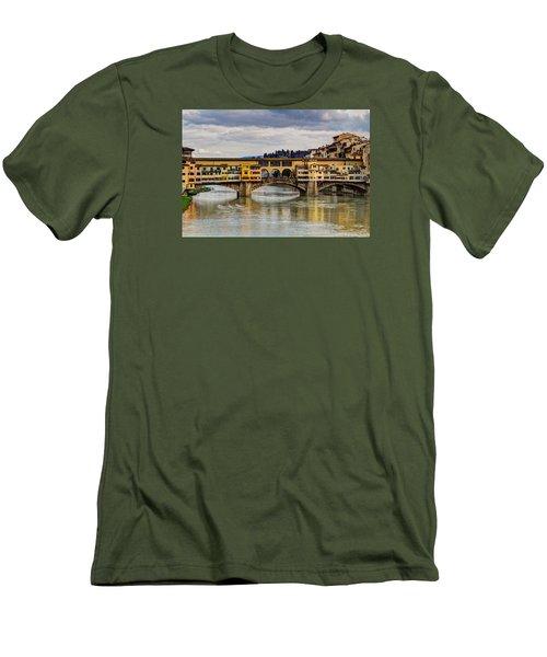 The Ponte Vecchio Men's T-Shirt (Slim Fit) by Wade Brooks