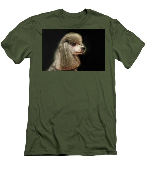 The Poodle Is A Breed Of Dog, One Of The Most Common Breeds In The Present. Men's T-Shirt (Athletic Fit)