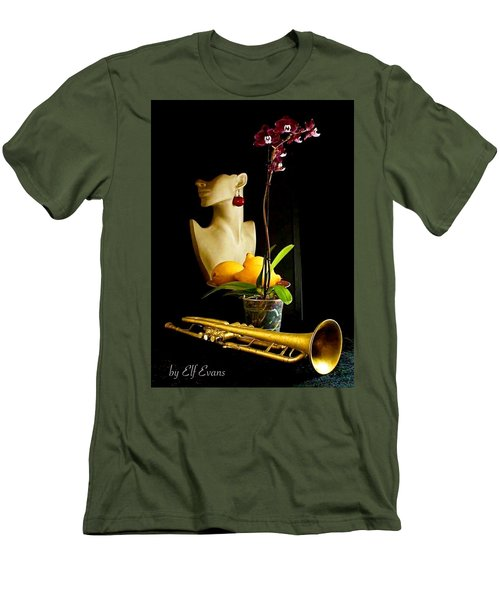 Men's T-Shirt (Athletic Fit) featuring the photograph The Purple Orchid by Elf Evans