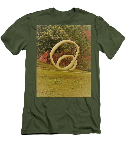 Men's T-Shirt (Athletic Fit) featuring the photograph the rings of Mactown by Aaron Martens