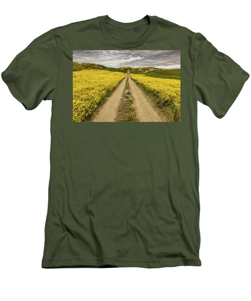 Men's T-Shirt (Slim Fit) featuring the photograph The Road Less Pollenated by Peter Tellone