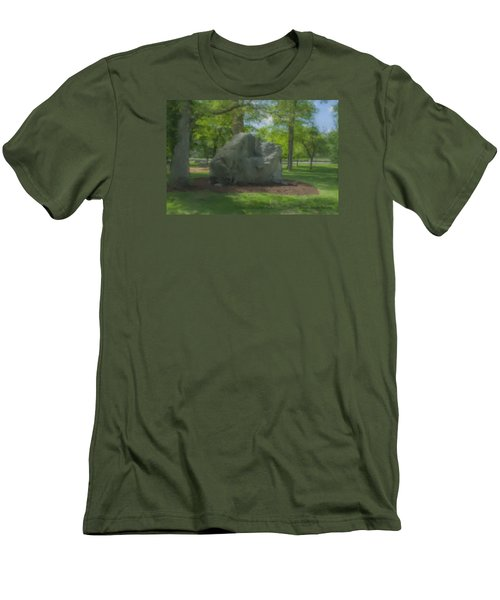 The Rock At Frothingham Park, Easton, Ma Men's T-Shirt (Athletic Fit)