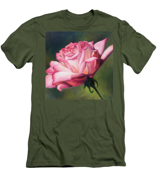 Men's T-Shirt (Slim Fit) featuring the painting The Rose by Lori Brackett