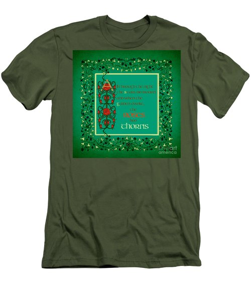 Men's T-Shirt (Slim Fit) featuring the digital art The Roses Had Thorns by Donna Huntriss