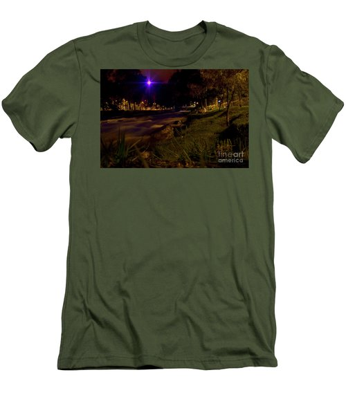 Men's T-Shirt (Slim Fit) featuring the photograph The Rushing Rio Tomebamba IIi by Al Bourassa