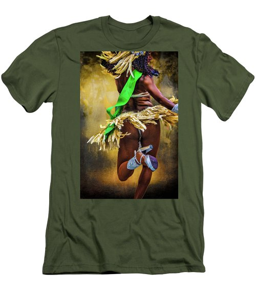 Men's T-Shirt (Slim Fit) featuring the photograph The Samba Dancer by Chris Lord