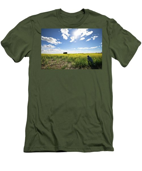 The Saskatchewan Prairies Men's T-Shirt (Athletic Fit)