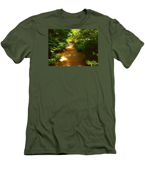 The Secret Path Men's T-Shirt (Slim Fit) by Becky Lupe