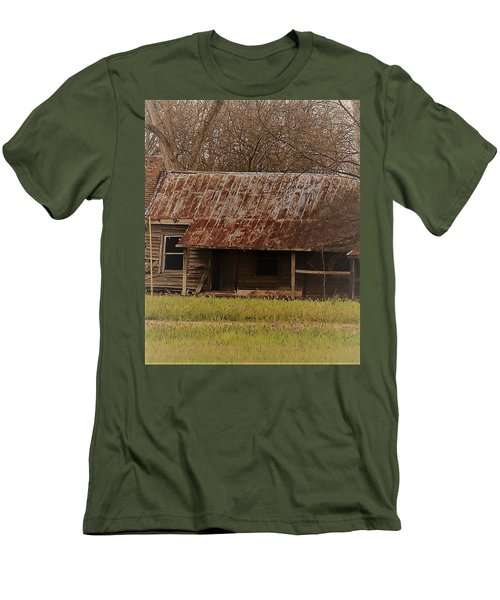 Men's T-Shirt (Athletic Fit) featuring the photograph The Shack by Aaron Martens