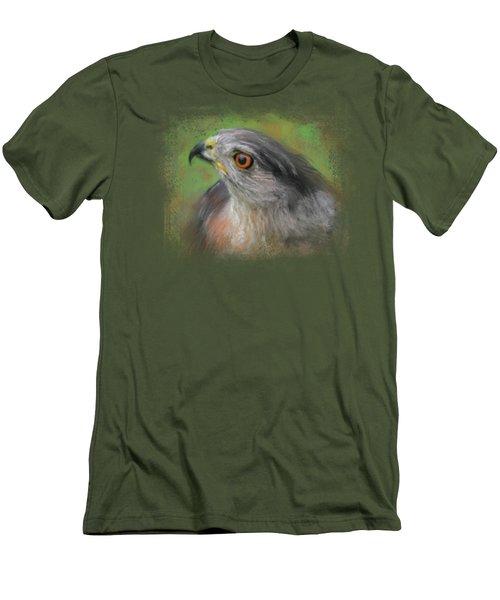 The Sharp Shinned Hawk Men's T-Shirt (Slim Fit) by Jai Johnson
