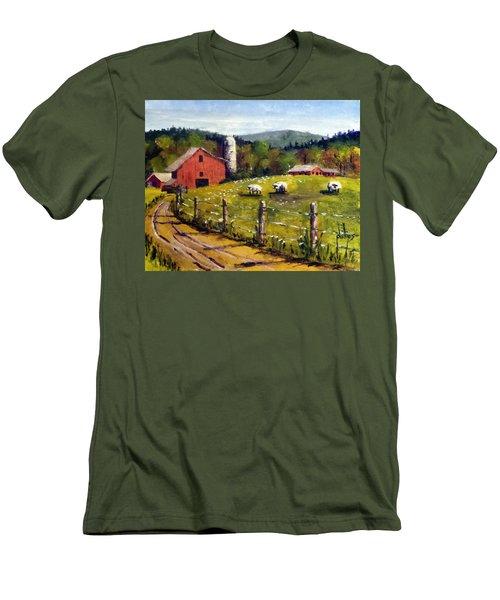 The Sheep Farm Men's T-Shirt (Slim Fit) by Jim Phillips
