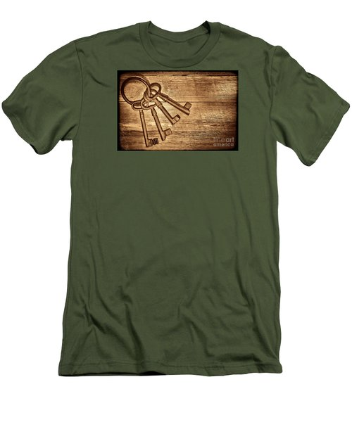 The Sheriff Jail Keys Men's T-Shirt (Slim Fit) by American West Legend By Olivier Le Queinec