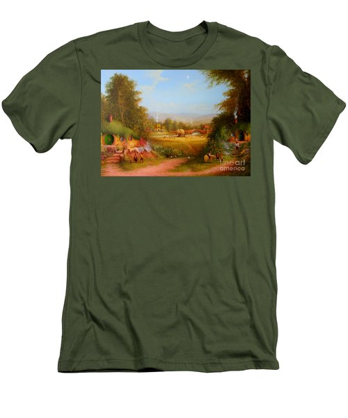 The Shire. Men's T-Shirt (Slim Fit) by Joe  Gilronan