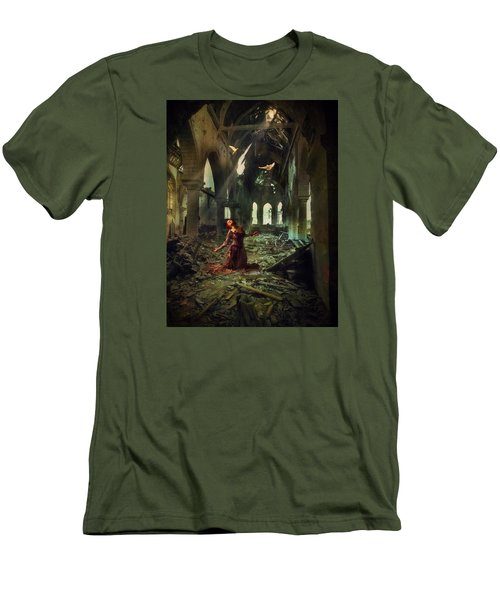 Men's T-Shirt (Slim Fit) featuring the photograph The Soul Cries Out by John Rivera