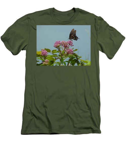 Men's T-Shirt (Slim Fit) featuring the photograph The Spicebush Swallowtail Of Prettyboy Reservoir by Donald C Morgan