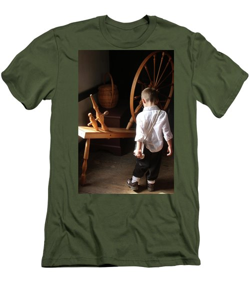 Men's T-Shirt (Slim Fit) featuring the photograph The Spinning Wheel by Emanuel Tanjala
