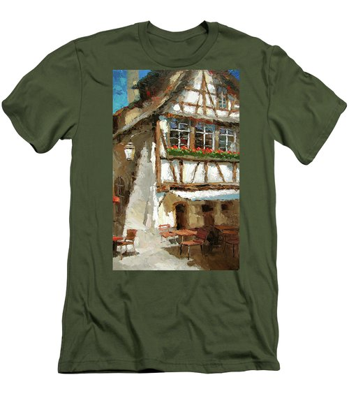 The Streets Of Strasbourg Men's T-Shirt (Slim Fit)