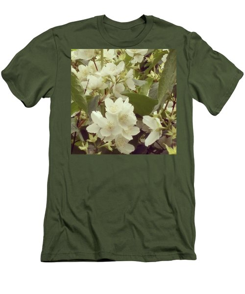 The Summer Smells Like A Mock Orange Men's T-Shirt (Slim Fit)