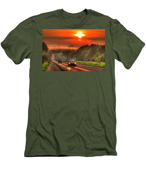 The Sunrise Commute Georgia Interstate 20 Art Men's T-Shirt (Athletic Fit)