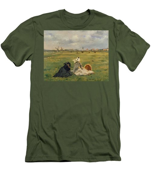 The Swallows Men's T-Shirt (Slim Fit) by Edouard Manet