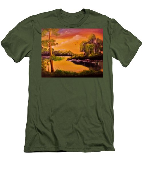 The Swamp Men's T-Shirt (Slim Fit) by Manuel Sanchez