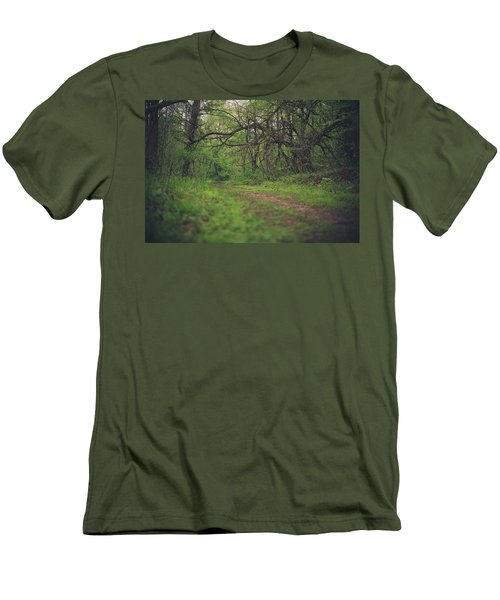 Men's T-Shirt (Slim Fit) featuring the photograph The Taking Tree by Shane Holsclaw