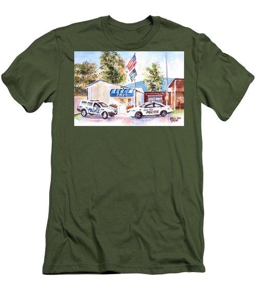 The Thin Blue Line Men's T-Shirt (Slim Fit) by Kip DeVore
