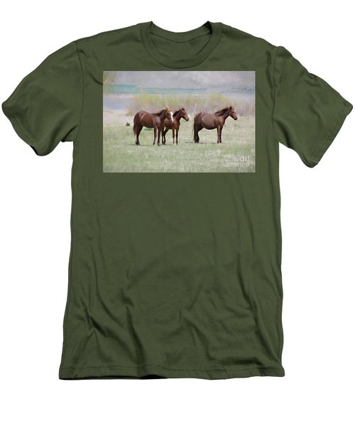 Men's T-Shirt (Slim Fit) featuring the photograph The Three Amigos by Benanne Stiens