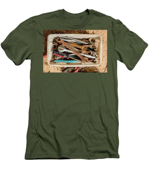 Men's T-Shirt (Slim Fit) featuring the photograph The Toolbox by Christopher Holmes