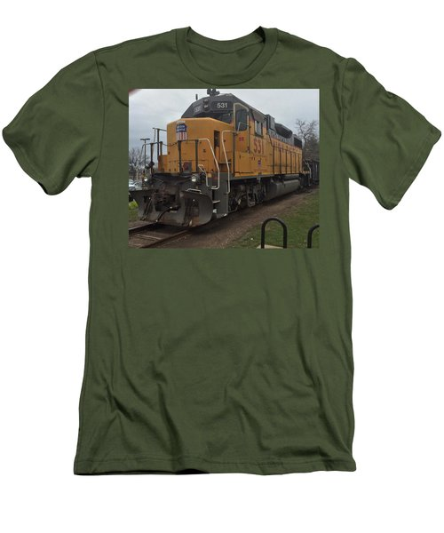 The Train At The Ymca Men's T-Shirt (Athletic Fit)