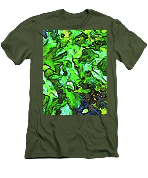 The Tropical Green Leaves With The Wings Men's T-Shirt (Athletic Fit)