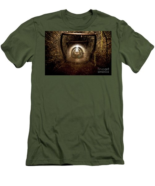 Men's T-Shirt (Slim Fit) featuring the photograph The Tunnel by Randall Cogle