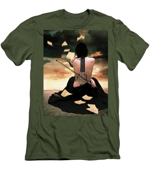 The Violin Song Men's T-Shirt (Athletic Fit)