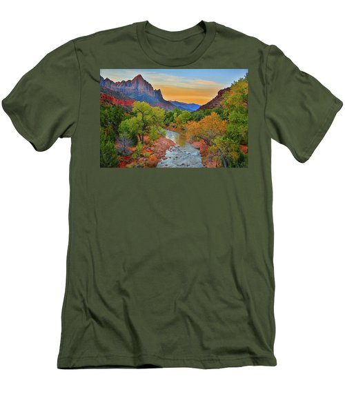 The Watchman And The Virgin River Men's T-Shirt (Athletic Fit)