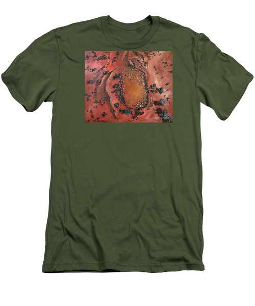 Men's T-Shirt (Slim Fit) featuring the painting The Watering Hole - Original Sold by Therese Alcorn
