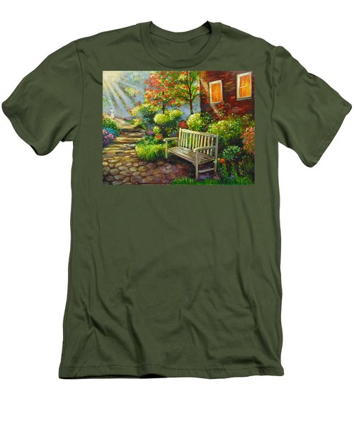 Men's T-Shirt (Slim Fit) featuring the painting The Way Home by Emery Franklin