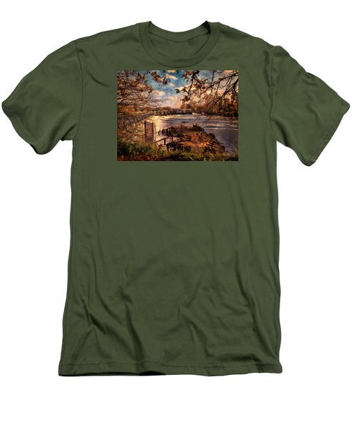 The Weir At Teddington Men's T-Shirt (Athletic Fit)