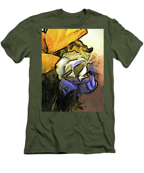 The White Rose And The Yellow Petals Men's T-Shirt (Athletic Fit)