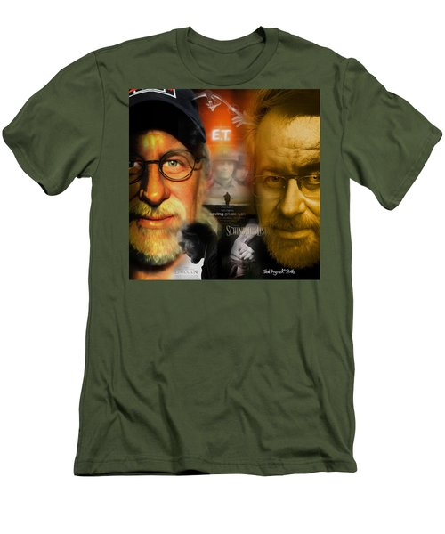 Men's T-Shirt (Slim Fit) featuring the digital art The World Of Steven Spielberg by Ted Azriel