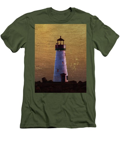 Men's T-Shirt (Slim Fit) featuring the photograph There Is A Lighthouse by B Wayne Mullins