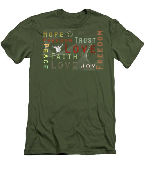 Think Positive Men's T-Shirt (Athletic Fit)