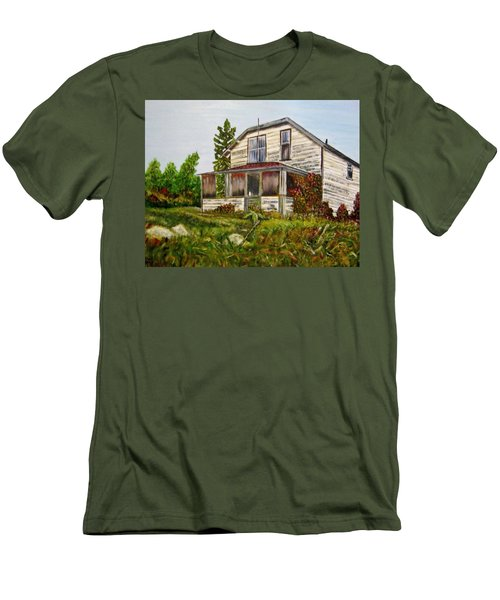 Men's T-Shirt (Slim Fit) featuring the painting This Old House by Marilyn  McNish